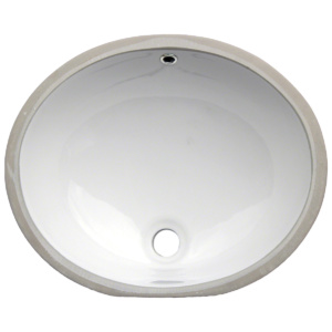 BATHROOM OVAL SINK WHITE UNDERMOUNT