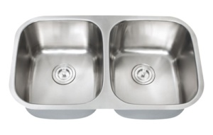 DOUBLE BOWL 18 GAUGE STAINLESS STEEL304 UNDERMOUNT 5050
